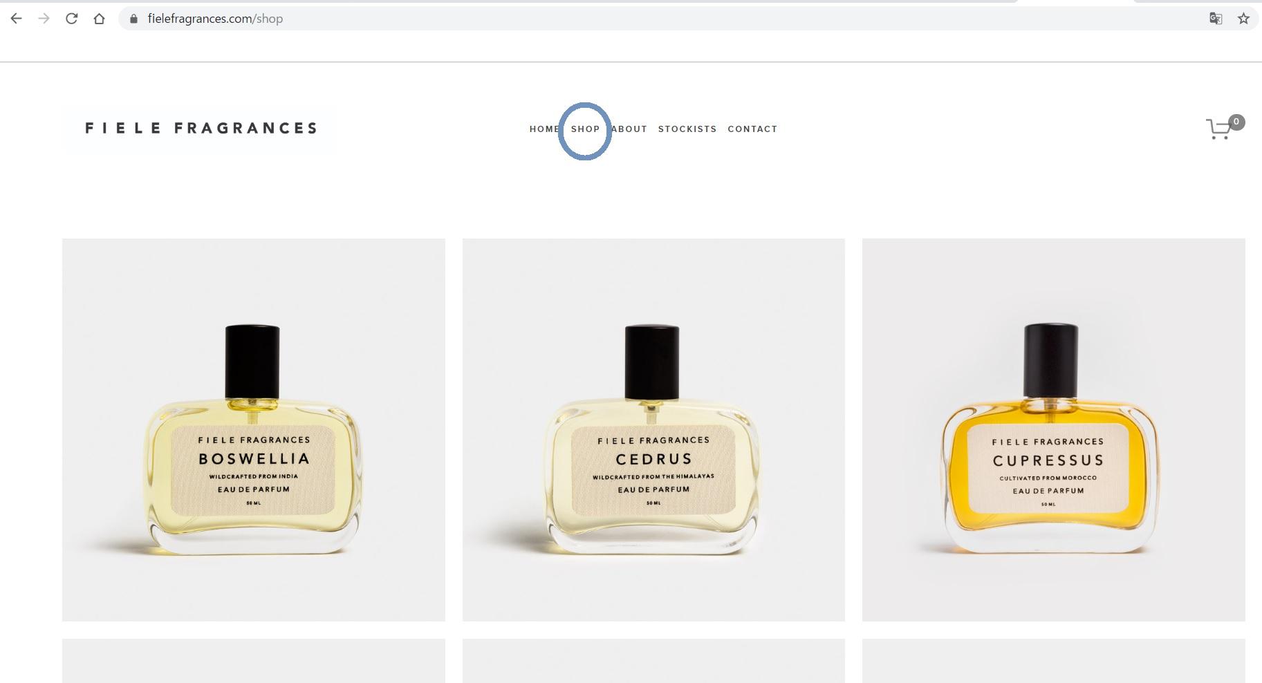 FIELE FRAGRANCES online shop
